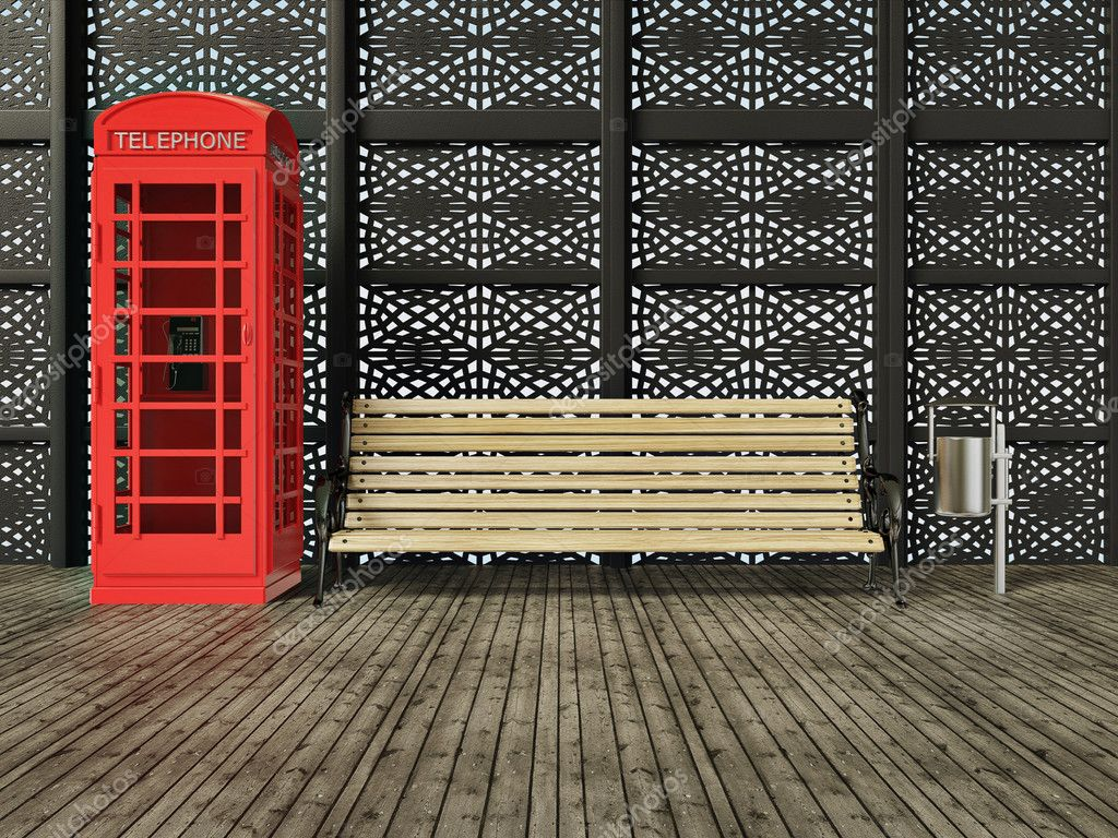 Red call box on a street in London — Foto de Stock   #6916796