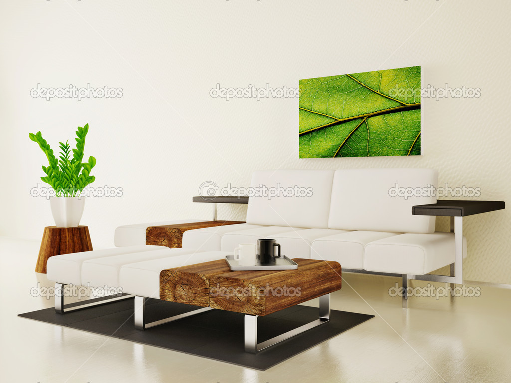 Modern interior room with nice furniture inside  Stock Photo #6918494