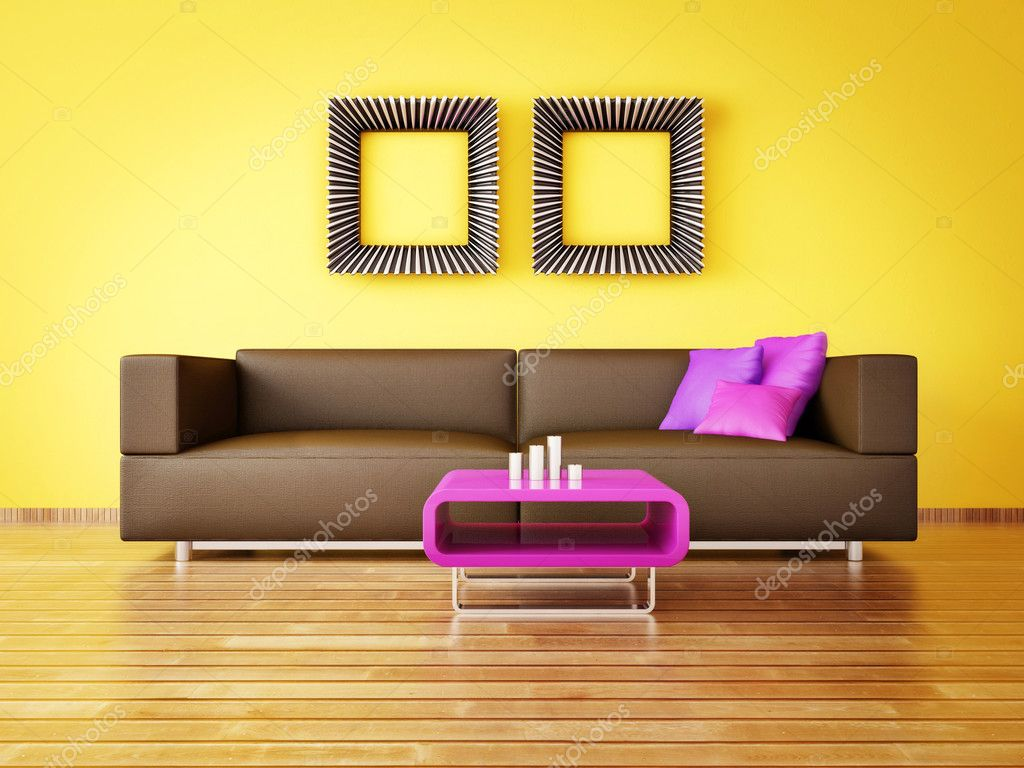 Modern interior room with nice furniture inside — Stock Photo #6918532