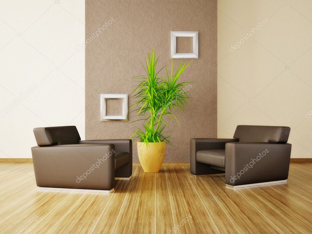 Modern interior room with nice furniture inside — Stock Photo #6918536