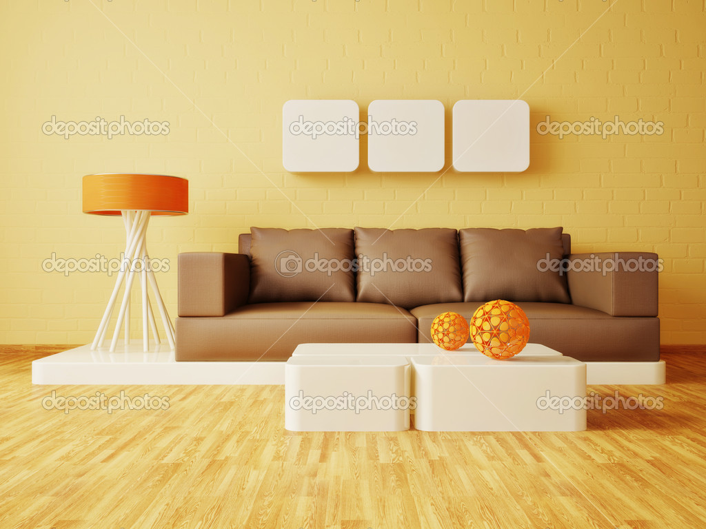 Modern interior room with nice furniture inside — Stock Photo #6918543
