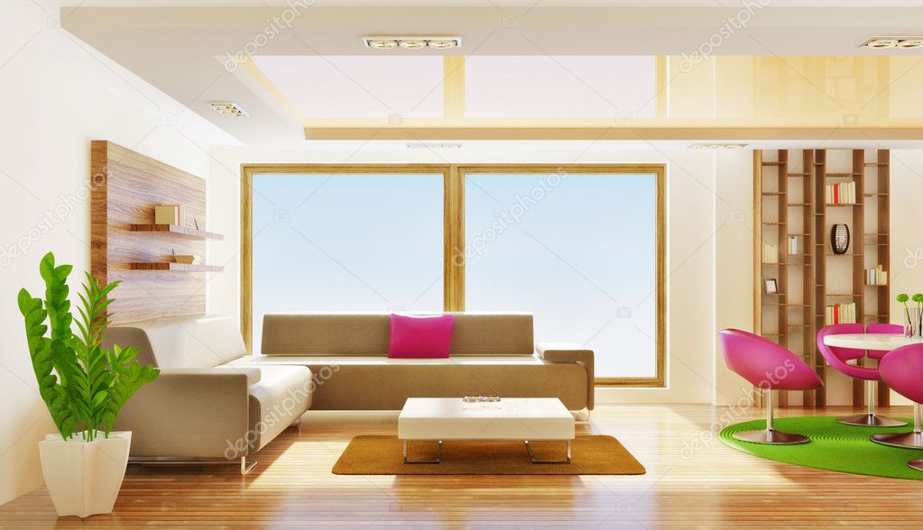 Modern interior room with nice furniture inside — Stock Photo #6918571