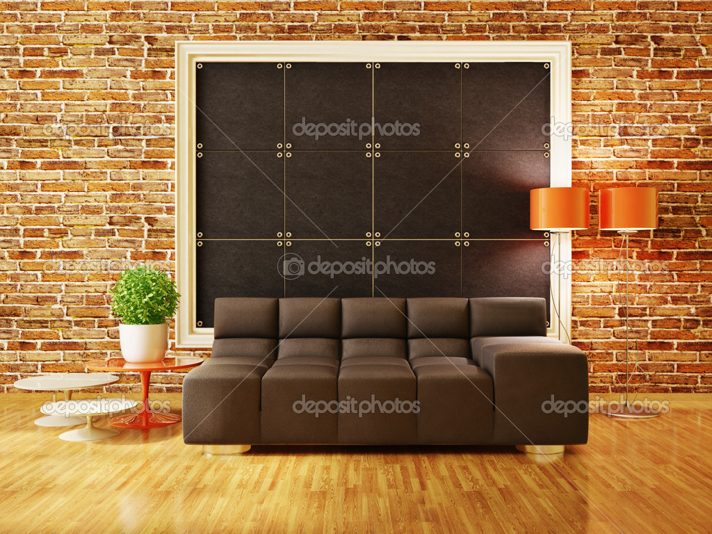 Modern interior room with nice furniture inside — Stock Photo #6918575