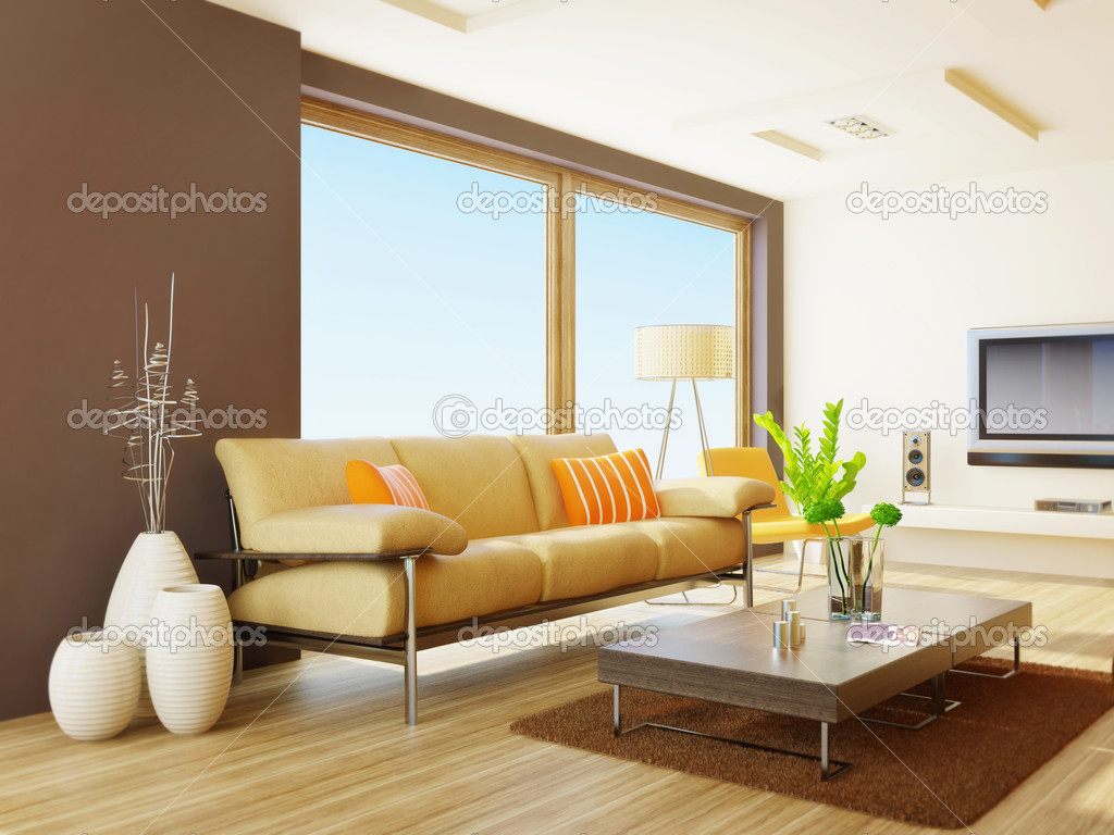 Modern interior room with nice furniture inside — Stock Photo #6918588