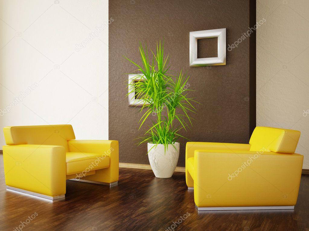Modern interior room with nice furniture inside — Stock Photo #6918595
