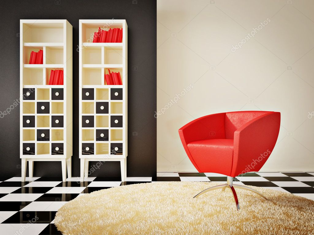 Modern interior room with nice furniture inside  Stockfoto #6918734