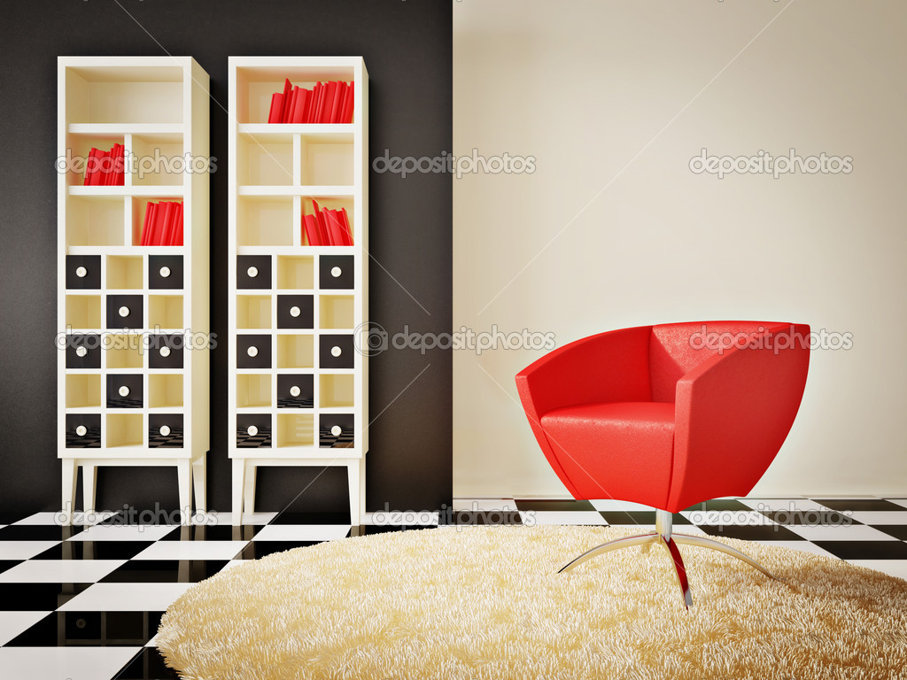Modern interior room with nice furniture inside — Foto Stock #6918734