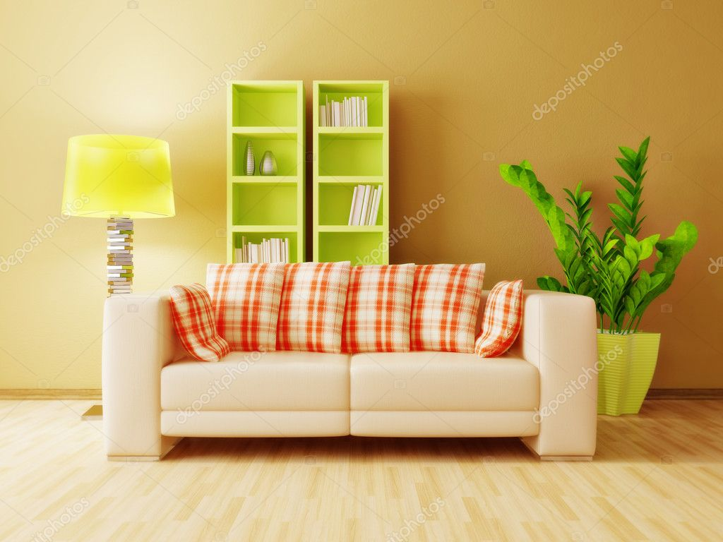 Modern interior room with nice furniture inside — Stock Photo #6918754