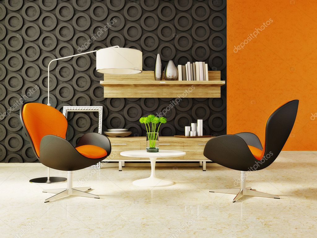 Modern interior room with nice furniture inside — Stock Photo #6918766