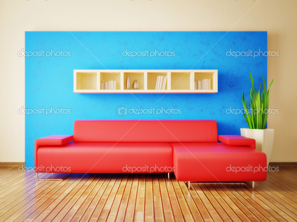 Modern interior room with nice furniture inside — Stock Photo #6918770