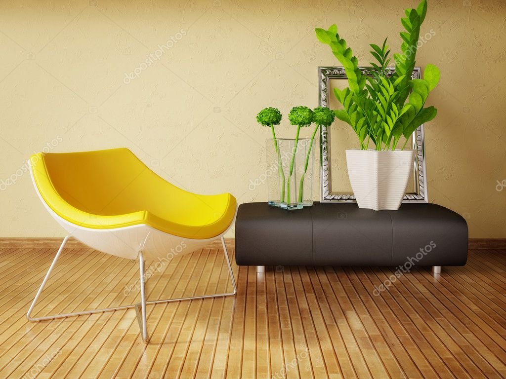 Modern interior room with nice furniture inside — Foto Stock #6918776