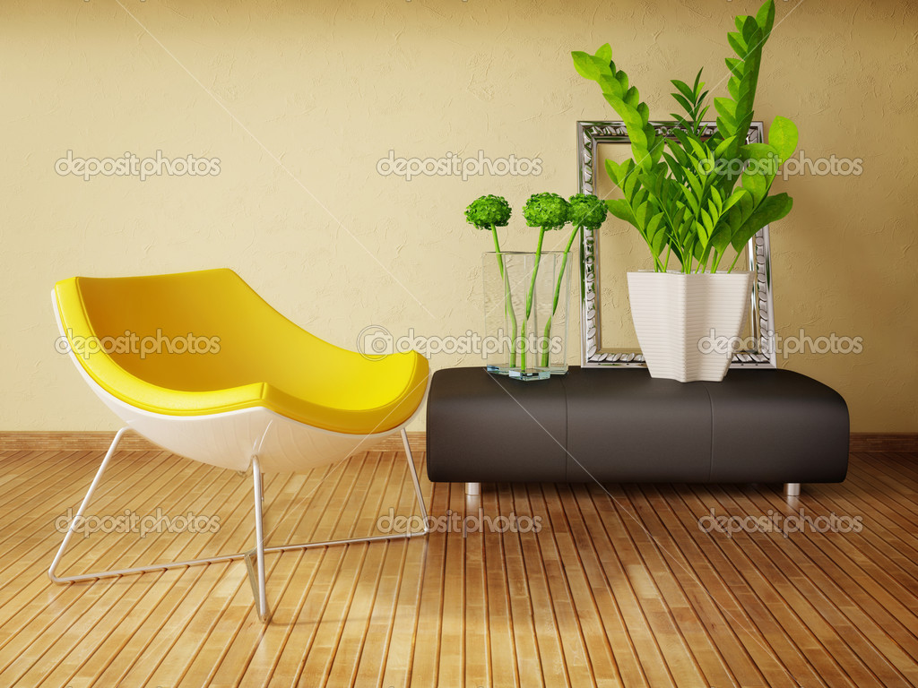Modern interior room with nice furniture inside — Stock Photo #6918776