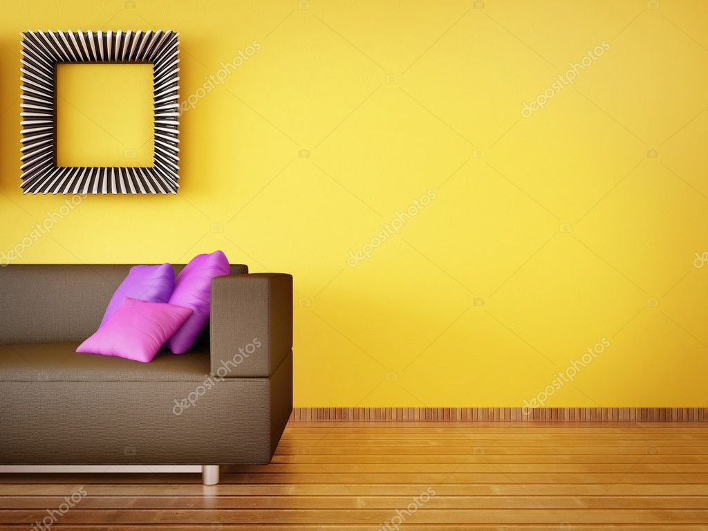 Modern interior room with nice furniture inside — Stock Photo #6918798