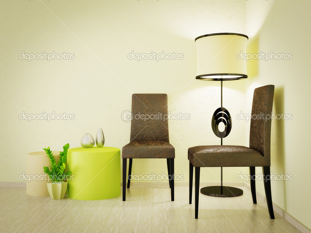 Modern interior room with nice furniture inside — Stockfoto #6918838