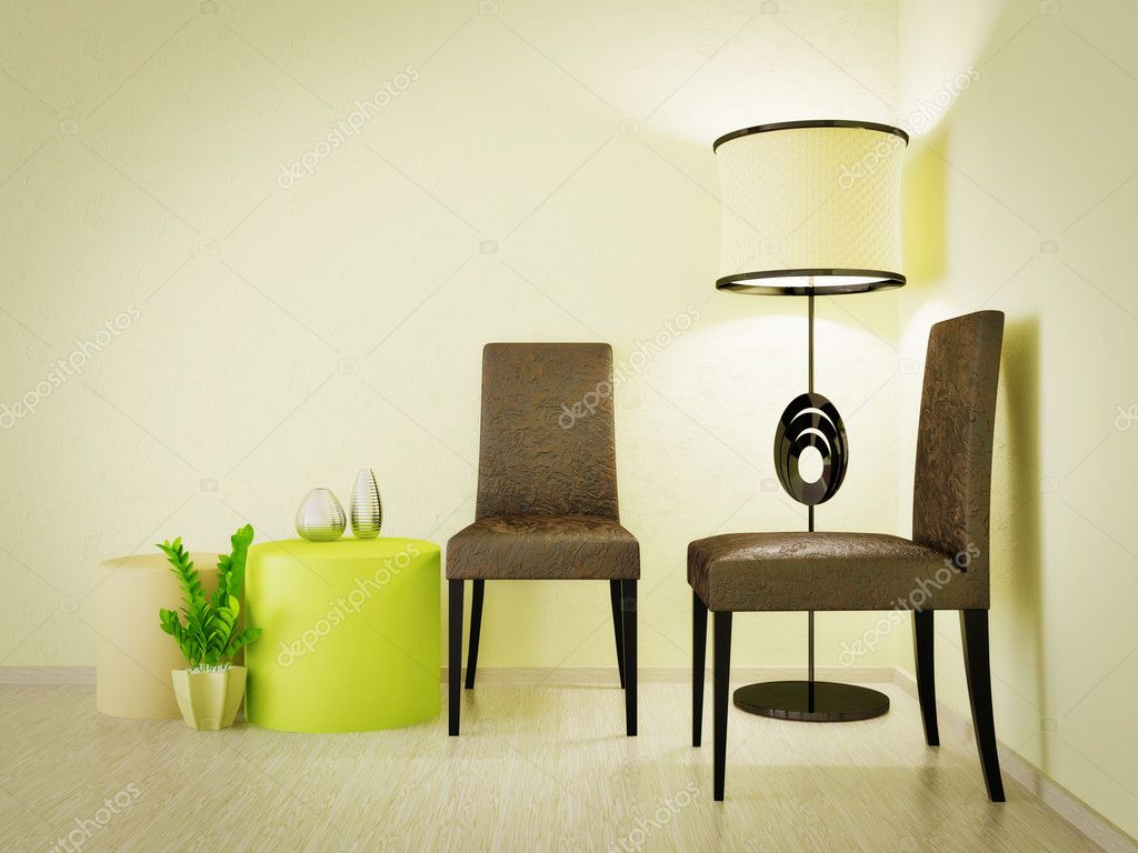 Modern interior room with nice furniture inside — Foto Stock #6918838