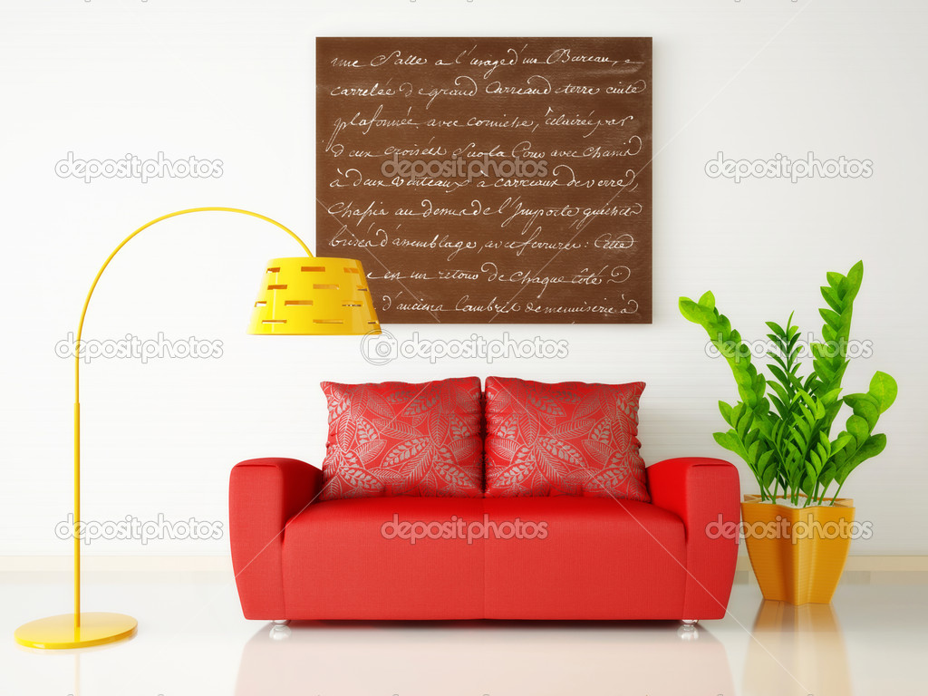 Modern interior room with nice furniture inside  Stock Photo #6919493