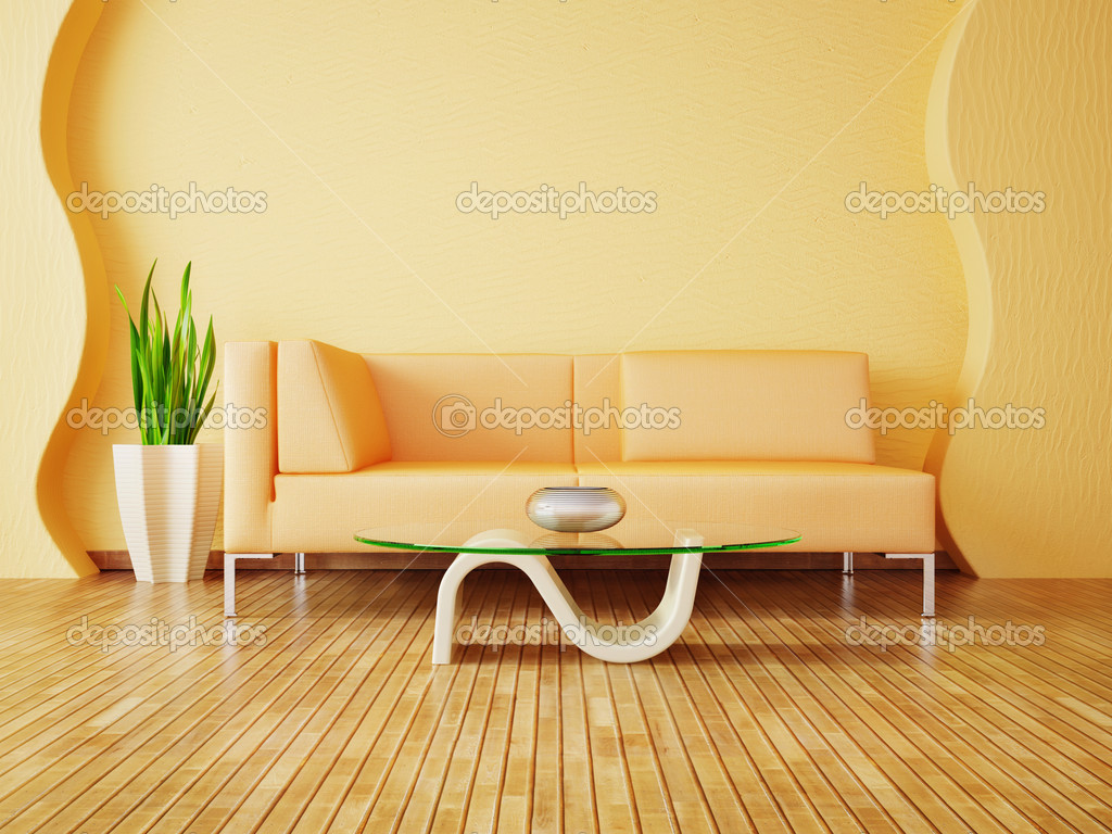 Modern interior room with nice furniture inside — Stock Photo #6919502