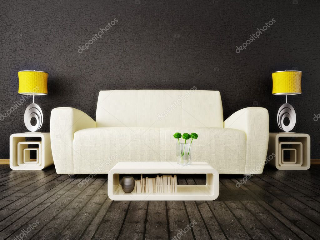 Modern interior room with nice furniture inside — Stock Photo #6919777