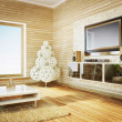 Royalty-Free Stock Photo: Modern interior room with nice furniture inside.