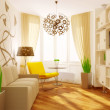 Modern interior room with nice furniture inside. — Stock Photo #6922237