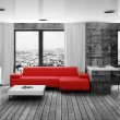Modern interior room with nice furniture inside. - Foto de Stock