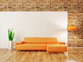 Espacio interior moderno con muebles agradable dentro de. — Foto de Stock