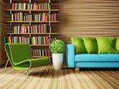 Modern interior room with nice furniture inside. — Fotografia Stock