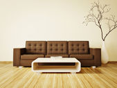 Moderna sala interna con mobili bella dentro. — Foto Stock
