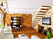 Modern interior room with nice furniture inside. — Stock fotografie