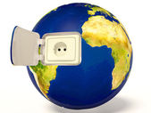 EarthQuality 3D image in high resolution. — Stock Photo
