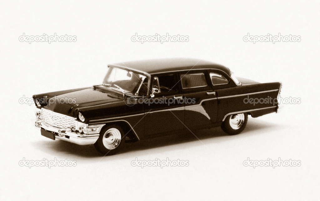 Retro car on a white background isolated — Stock Photo #6920123
