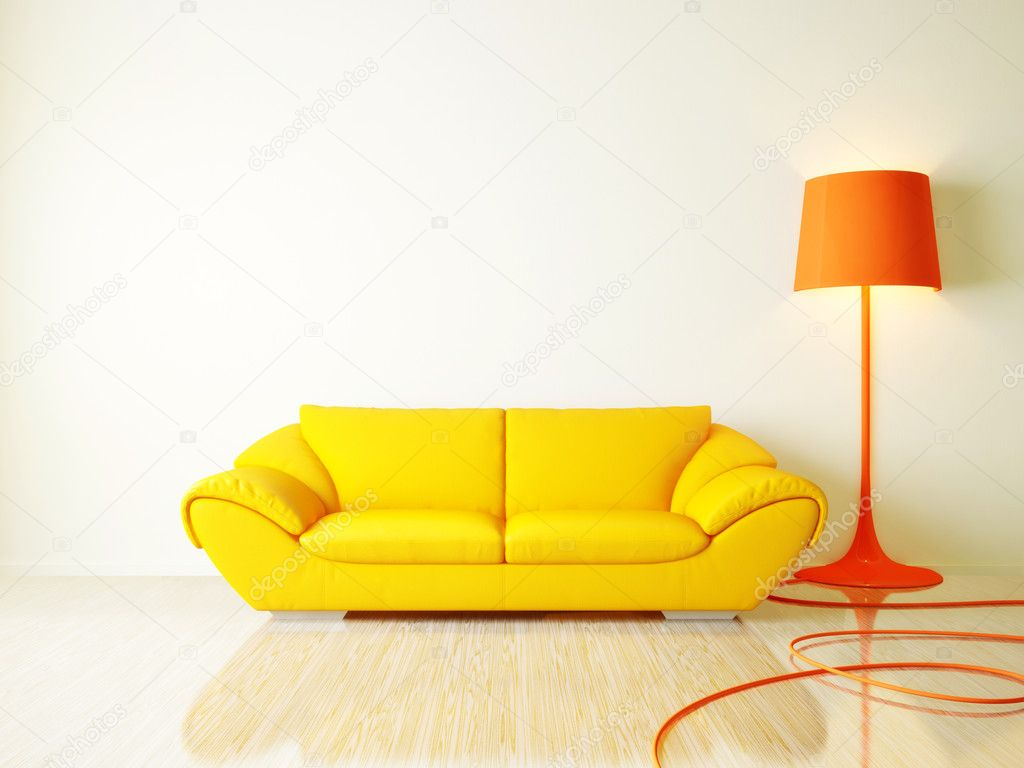 Modern interior room with nice furniture inside  Stock Photo #6920523