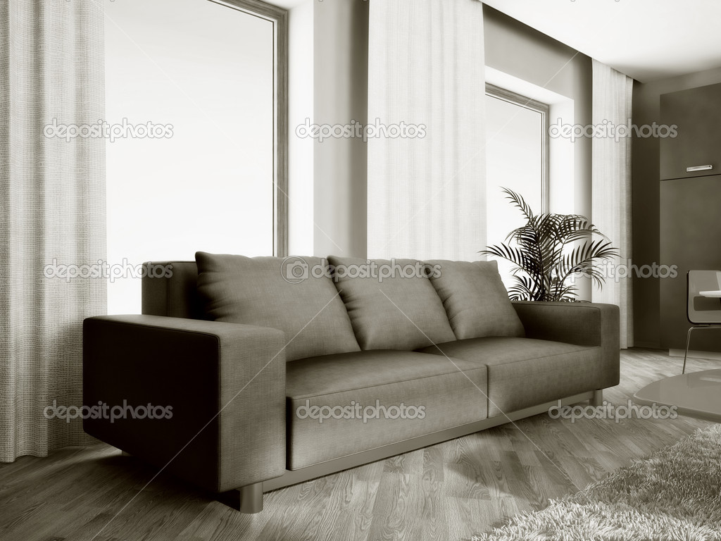 Modern interior room with nice furniture inside — Stock Photo #6920617