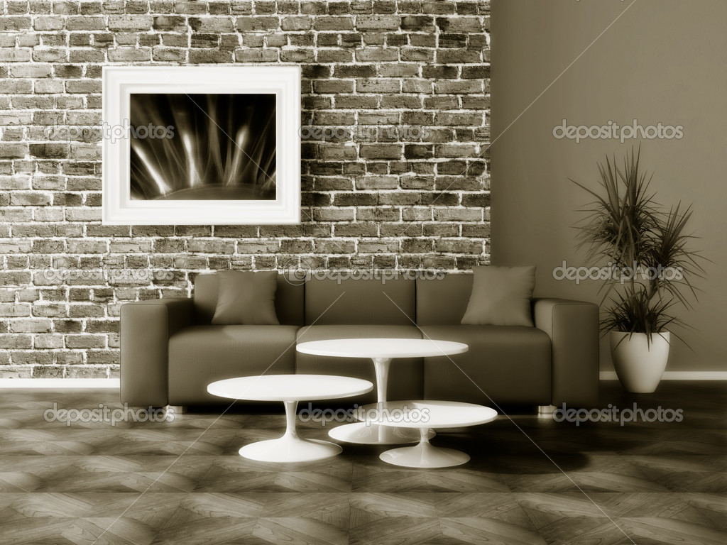 Modern interior room with nice furniture inside — Stock Photo #6920647