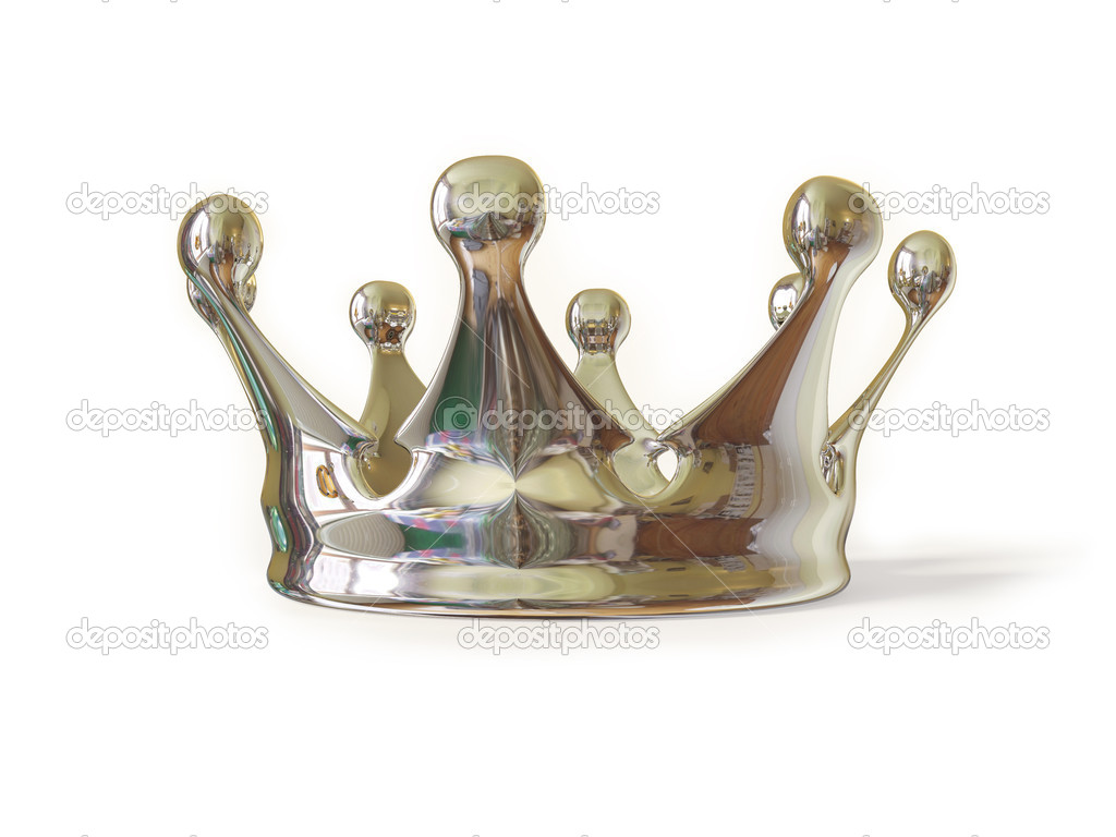 Royalty chrome crown isolated on white  background — Stock Photo #6921556