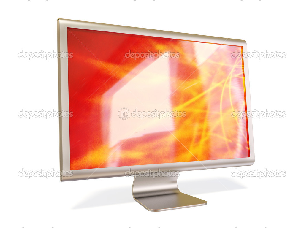 Metalic monitor on white background — Stock Photo #6921809