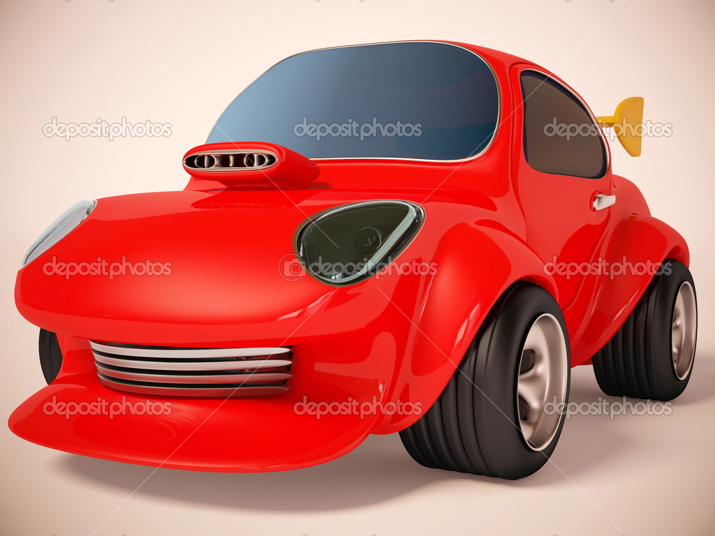Rad car on white background — Stock Photo #6922696