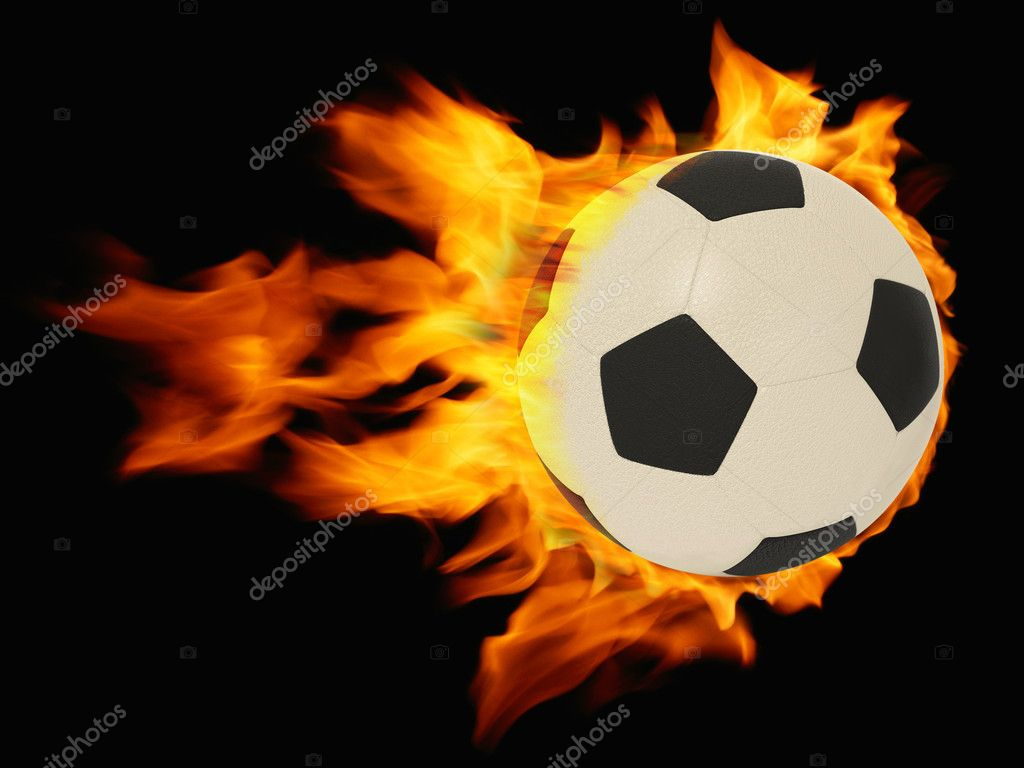 Fire ball on black background  Stock Photo #6922920