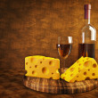 Wine and cheese - 图库照片