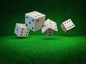 Rolling Dice — Stock Photo