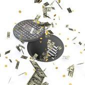Money down the drain — Stock Photo