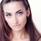 Buatiful dziewczyna z brązowe oczy — Zdjęcie stockowe