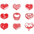 Heart vector icons — Stock Vector