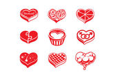 Heart vector icons — Stock Vector