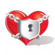 Lock heart — Stock Vector