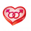 Stock Vector: Gender heart