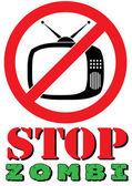 Stop Zombi [print T-shirt] — Stock Vector
