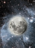 Full Moon in High Resolution with stars in the background — Stock Photo