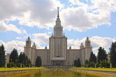 Main building of Moscow State University — Stock Photo