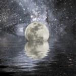 Terra e lua — Foto Stock